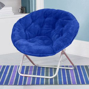 Mainstays Faux Fur Saucer Chair Multiple Colors Black 29