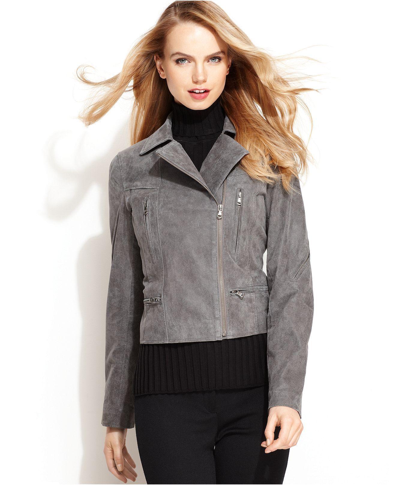 Levi's® Jacket, Antiqued Leather Motorcycle Womens Coats