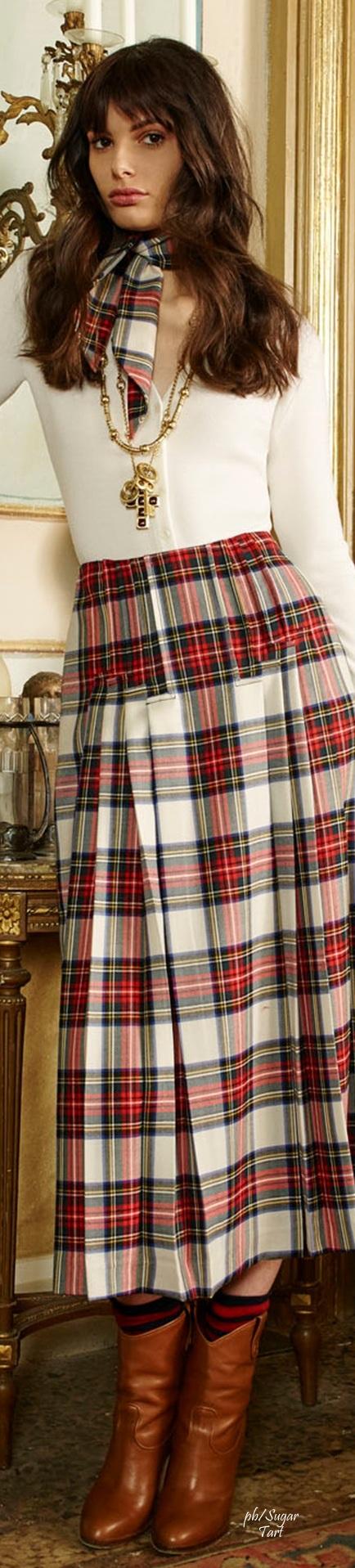 Plaid skirts fetish
