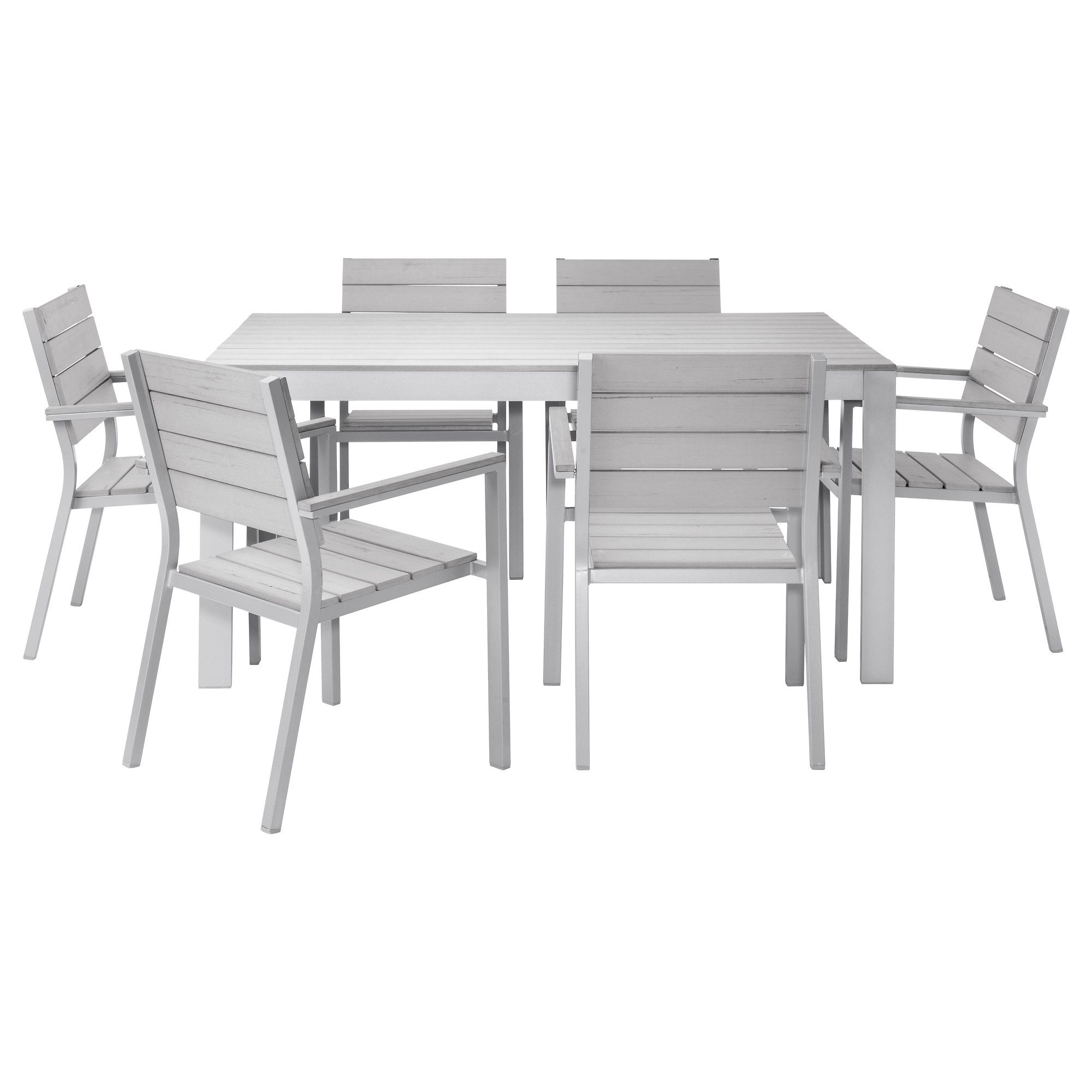 Falster Table 6 Armchairs Outdoor Ikea Polystyrene Slats Are Weather Resistant And Easy To Care For