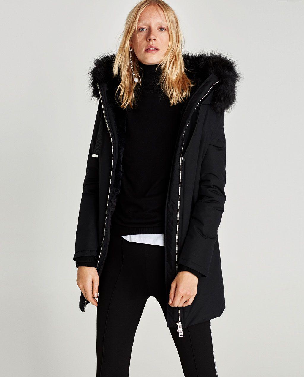 Ladies Black Parka Jacket