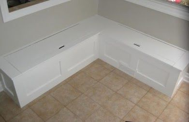 Seaside Shelter Cottage Kitchen Update Phase 2 Bench Seating Kitchen Kitchen Seating Storage Bench Seating