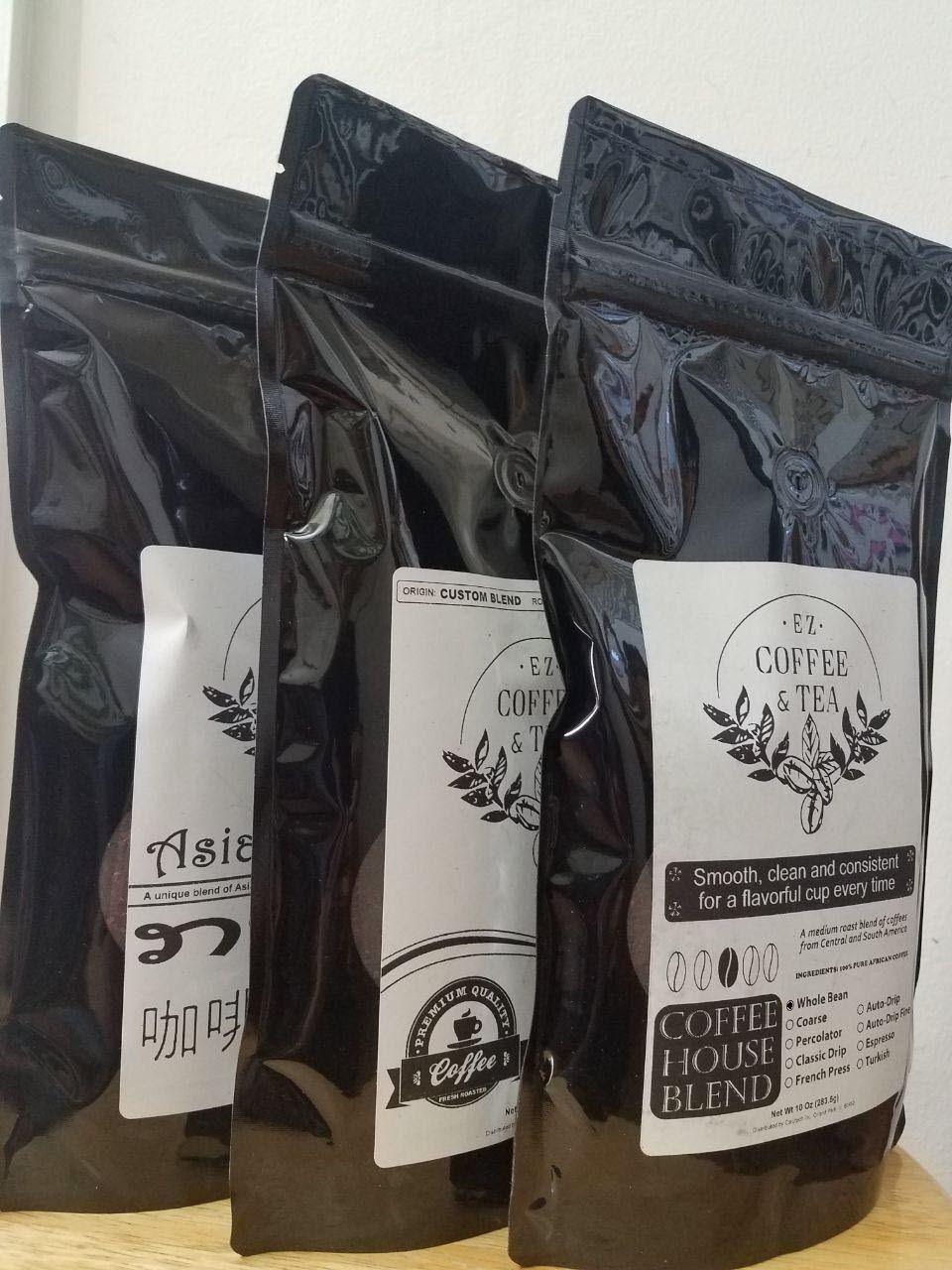 EZ Coffee and Tea Any 3 bag/pack Whole Bean Coffee 10 oz