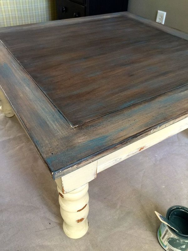 How To Dry Brush A Weathered Look Painted Furniture Rustic Furniture Paint Furniture