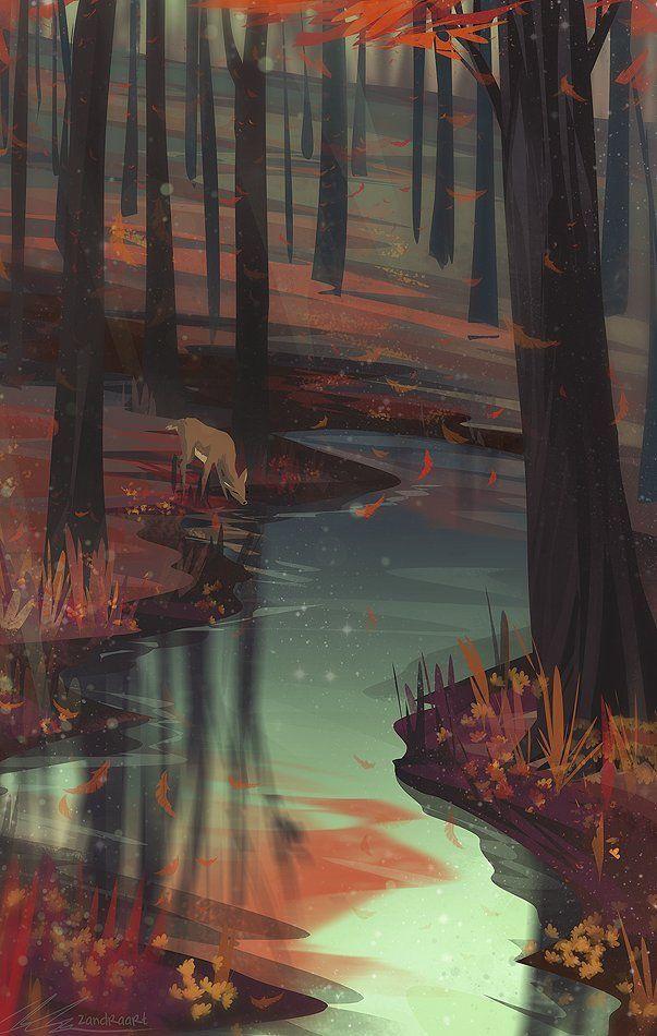Hirsch im Herbstwald ~ Wallpaper   - Bilderchaos - #Bilderchaos #Herbstwald #Hirsch #Wallpaper #autumnscenery
