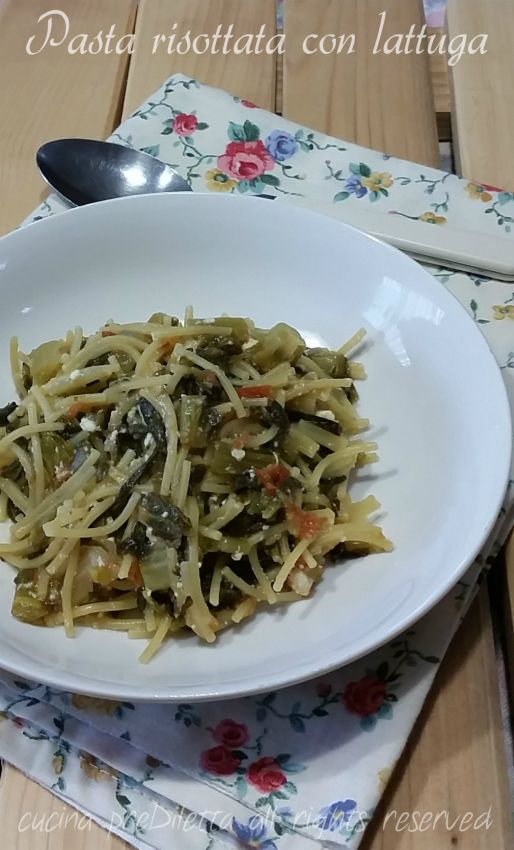 Pasta risottata con lattuga ricetta del giorno by cucina for Cucinare vegetariano