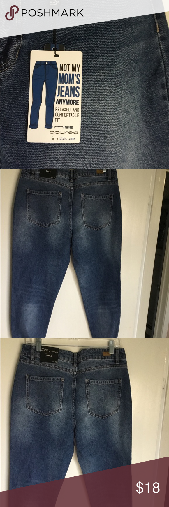 Miss Poured In Blue Jeans 100 Cotton Jeans Straight Leg Blue Jeans 100 Cotton Jeans Mom Jeans