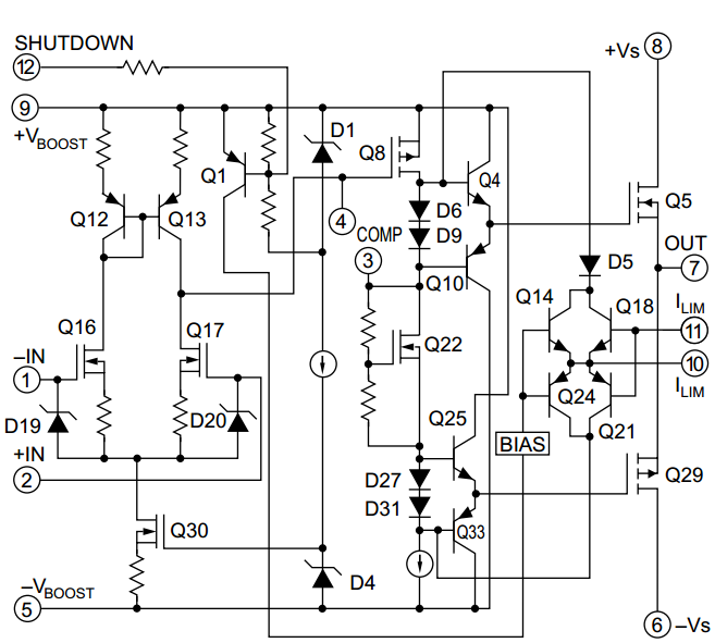 500W MOSFET POWER OPERATIONAL AMPLIFIERS PA05A ...