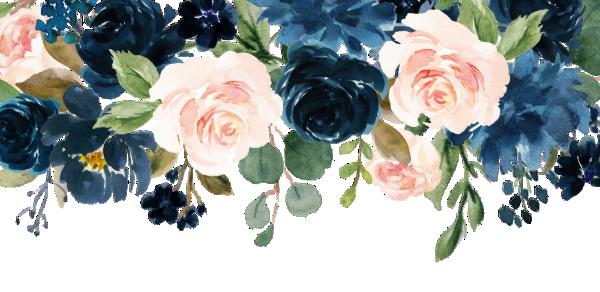 Navy Blue Blush Pink Rose Boho Wedding Invitation Zazzle