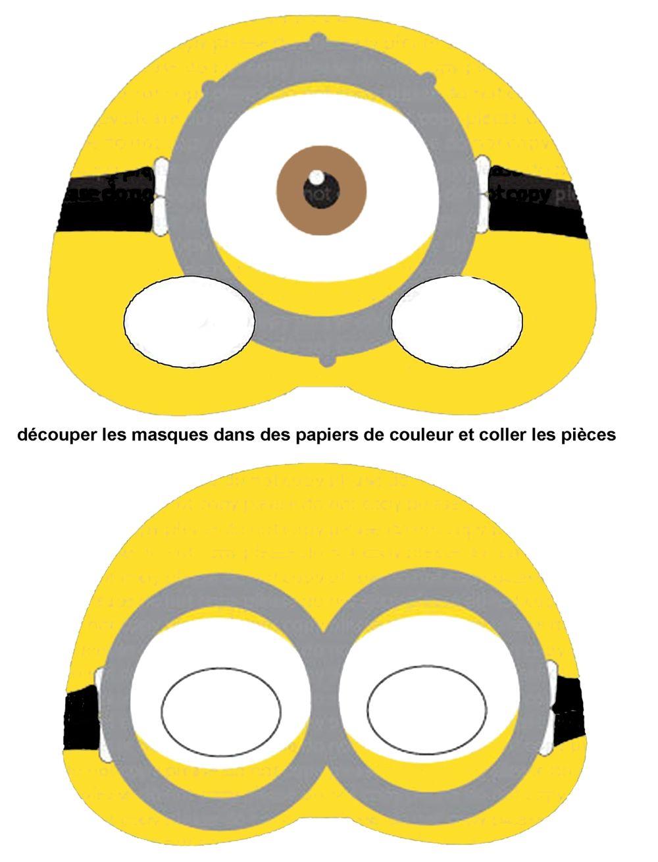Moldes Dos Minions Para Imprimir E Decorar Mascara Para Criancas