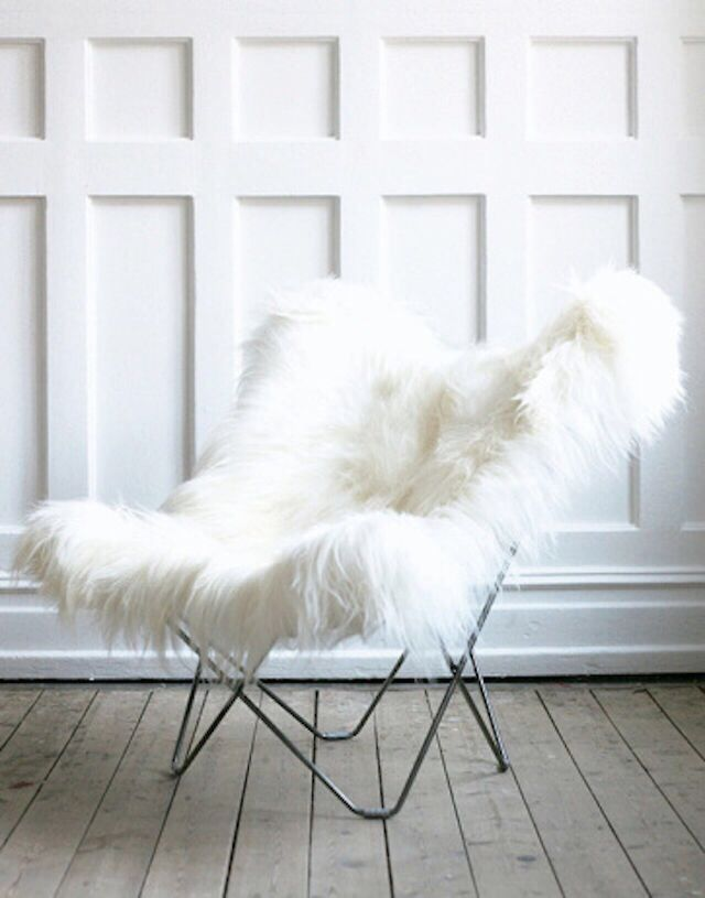 Comfy Fur Chair For Studying Butterfly Chair Furry Chair Decor