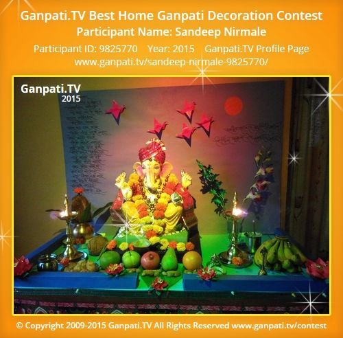 Sandeep Nirmale Home Ganpati Picture 2015. View More Pictures And Videos Of Ganpati  Decoration At