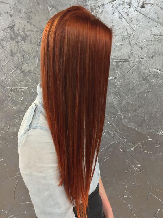 Modische Haarfarbe 2019 für langes Haar Grundlegende Trends und Trends auf dem Foto  Haartrends 2020