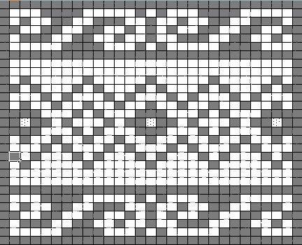 fair isle knit chart muziek en meer: Gebreid granny-plaid | Raksti ...