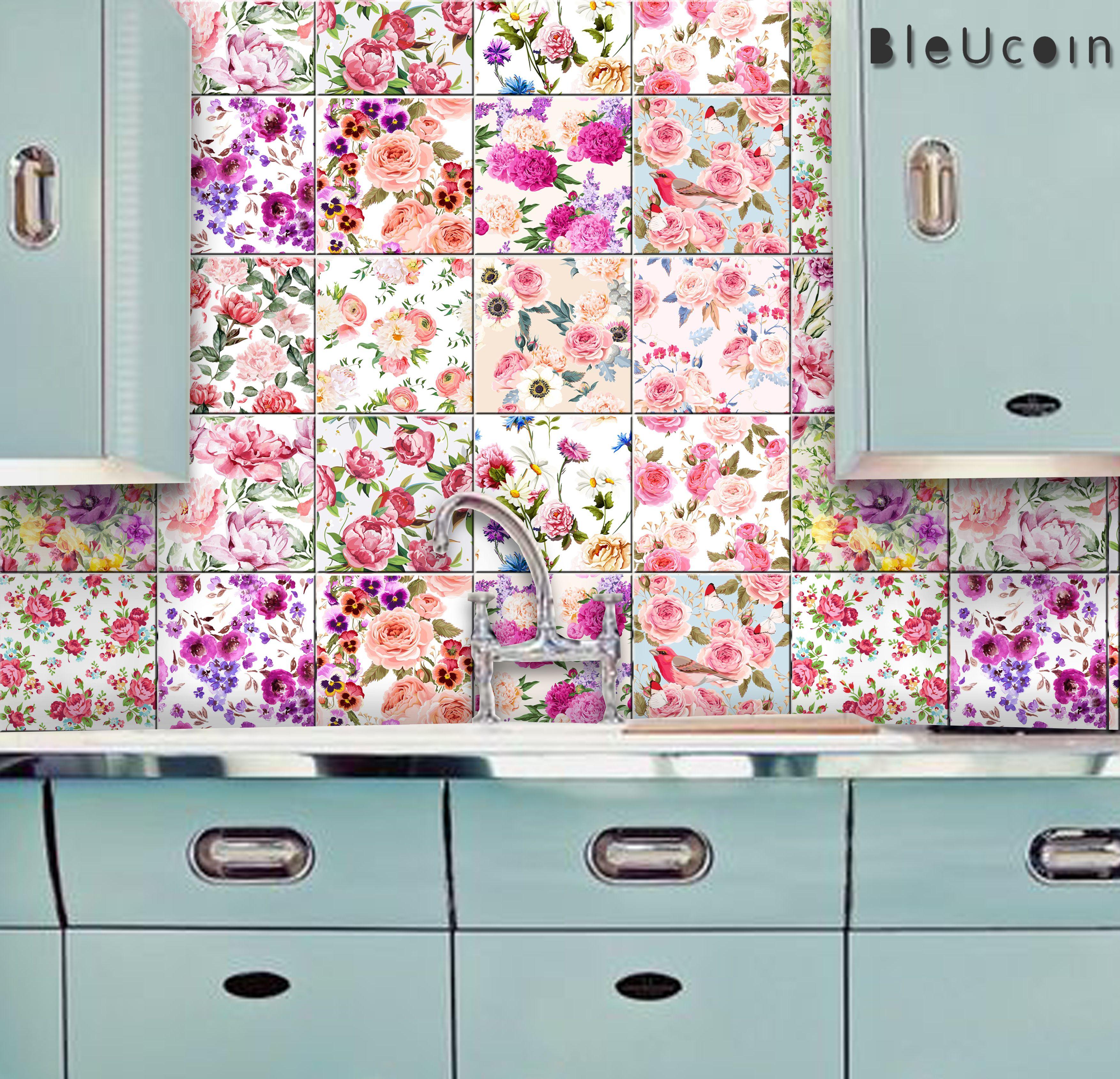 English Rose English Rose Kitchen Tile Backsplash Bathroom Bathroom Backsplash