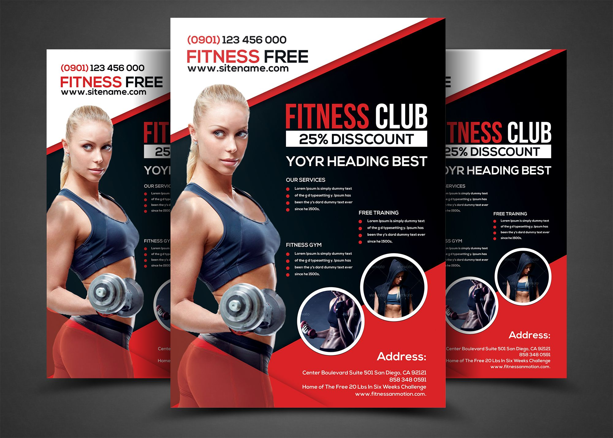 beau Fitness Flyer - Gym Flyer Templates by AfzaalGraphics on @creativemarket