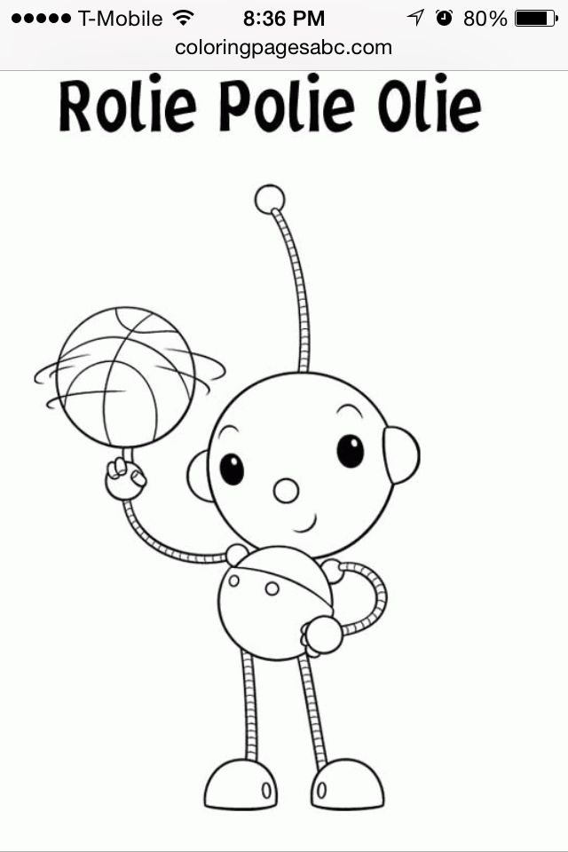 Rolie Polie Olie Embroidery Coloring Pages Coloring Pages For