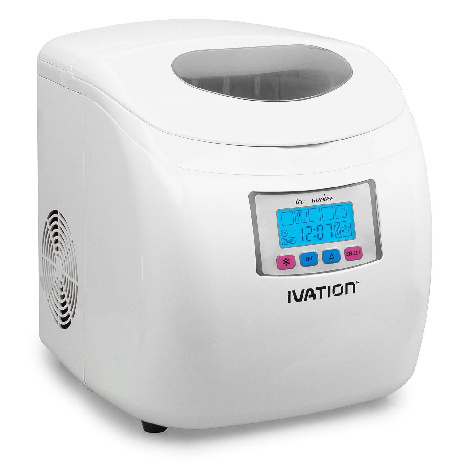 Ivation Iva Icem25wh Portable Ice Maker With Lcd Display White