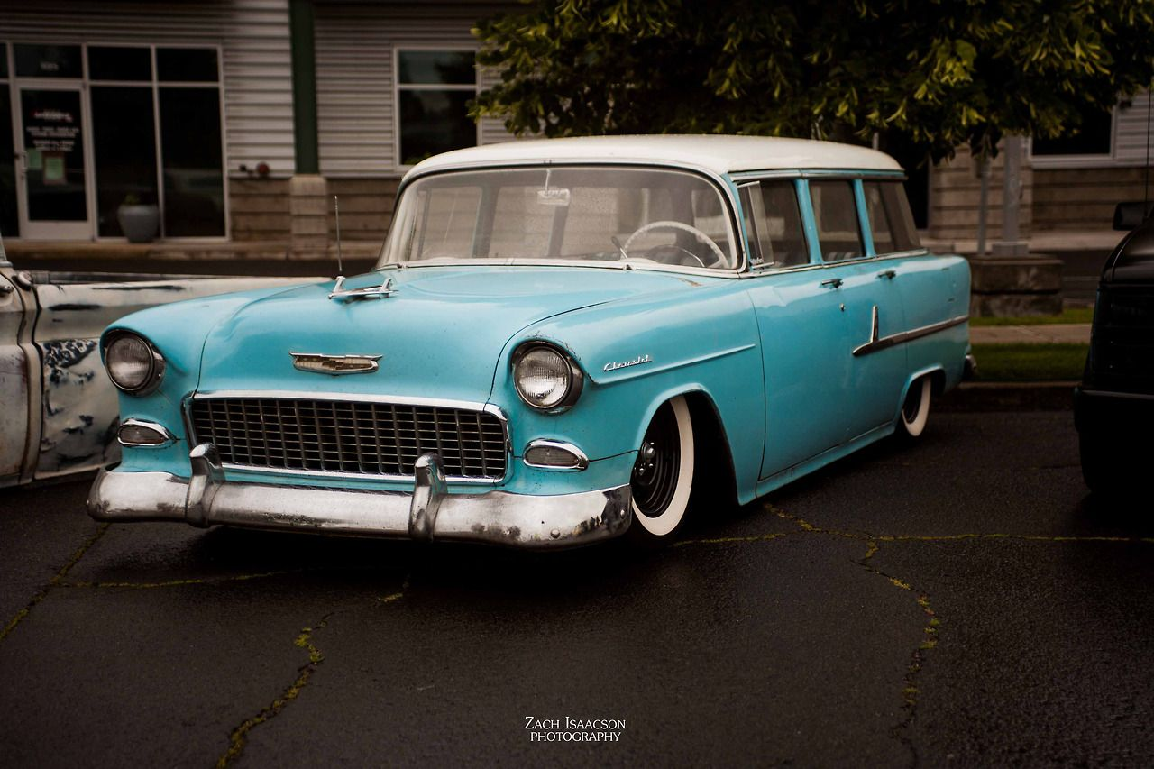 Lowered Chevy 4 door wagon Old american cars, Chevy bel