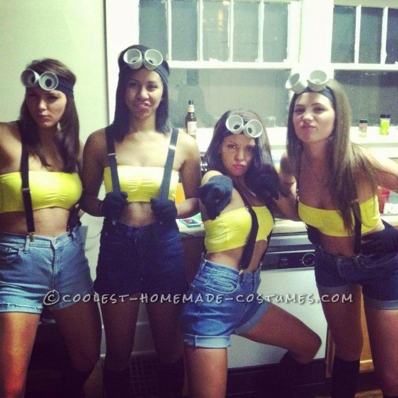 easy and cheap homemade girl group costumes despicable me diy rh pinterest com