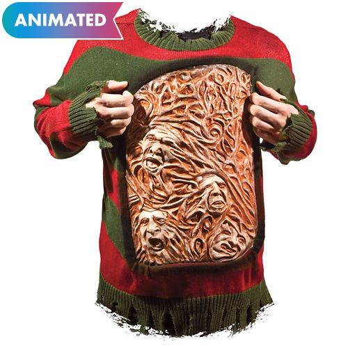 Adult Animated Freddy Krueger Chest of Souls Sweater halloween