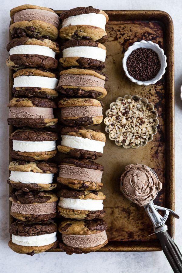 Brookie Ice Cream Sandwiches #icecreamsandwich