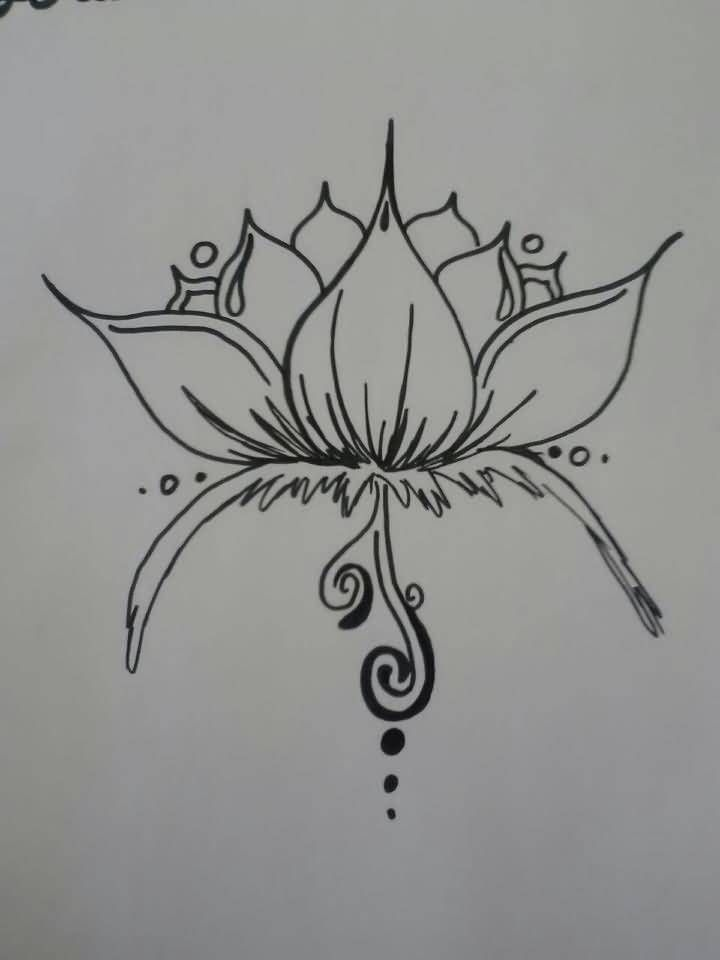 japanese fish and lotus flower tattoo outline on paper tattoo pinterest. Black Bedroom Furniture Sets. Home Design Ideas