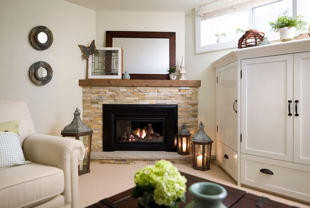 Find Any Dazzling Corner Gas Fireplace Trend Toronto Traditional Basement  Innovative Designs With Airy Basement Bright
