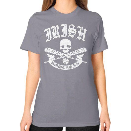 Irish hooligan Unisex T-Shirt (on woman)