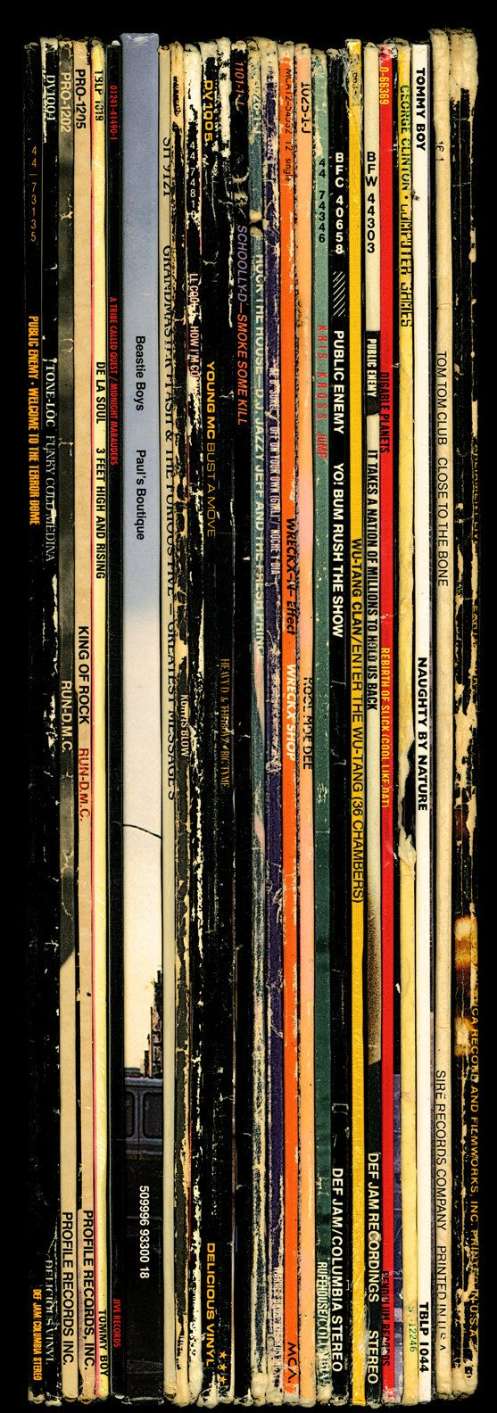 """Hip Hop Spines by Bughouse. Digitally printed to archival standards using fine art canvas and pigmented inks 60"""" x 22"""" Secession Art & Design"""