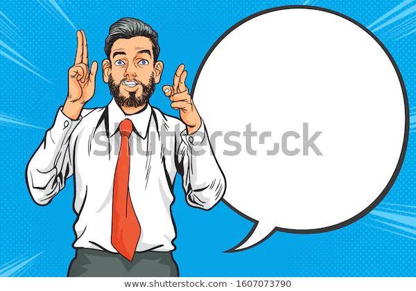 Business Man Pointing Finger Retro Pop Stock Vector Royalty Free 1607073790 Pop Art Comic Retro Pop Comic Styles