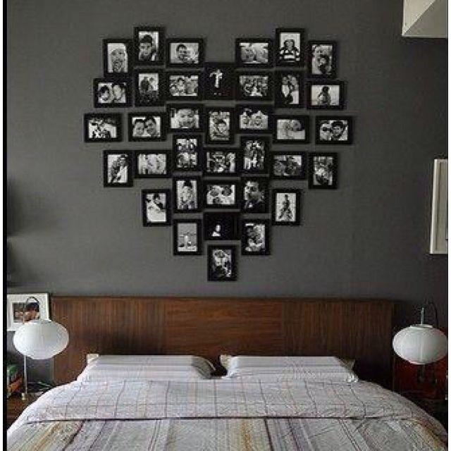 peindre les cadres en noir et faire un mur au dessus de notre lit avec les photos des enfants. Black Bedroom Furniture Sets. Home Design Ideas