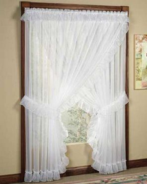 Sheer Priscilla Panel Pair With Attached Valance Unique Curtains
