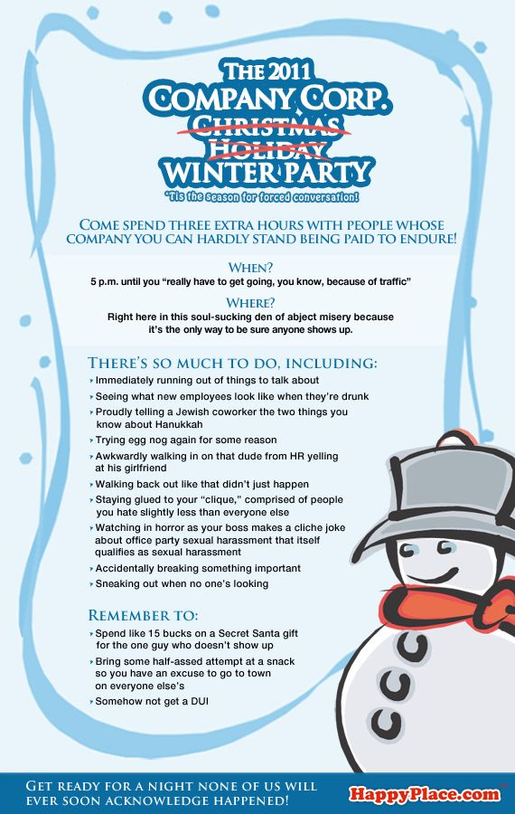 The funniest office party invite ever!! | Smile it Out | Pinterest ...
