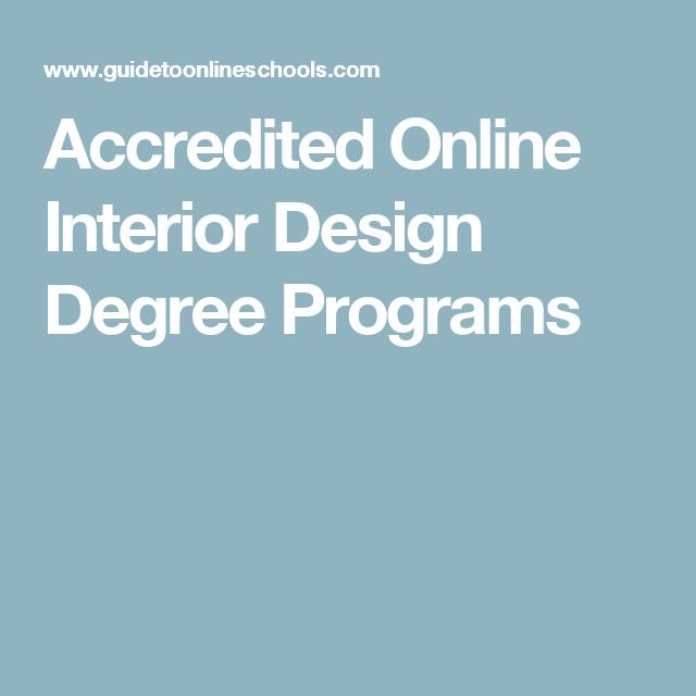 2020 Accredited Online Interior Design Degrees