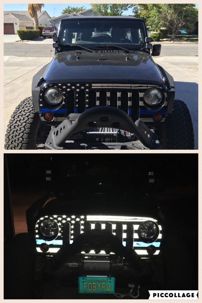 Installed My Jeepgrillz Flash Bangz Grill Wrap This Weekend Thin