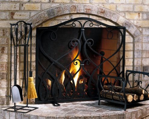 Fireplace Screens Can Look Elegant And Be Very Functional At The