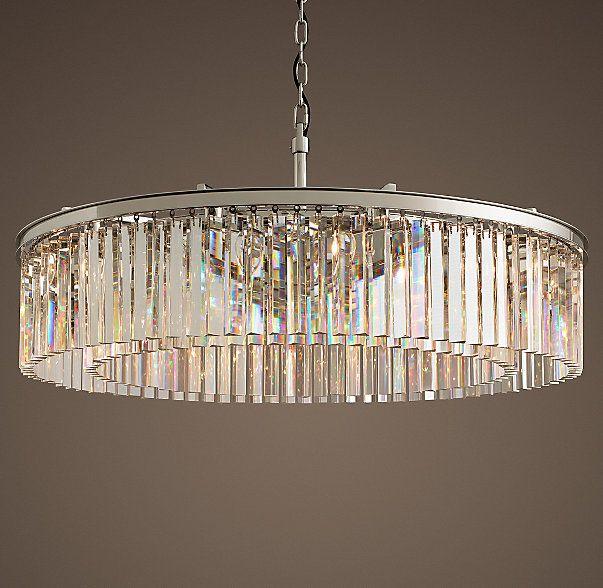 Rhys Clear Glass Prism Round Chandelier 43