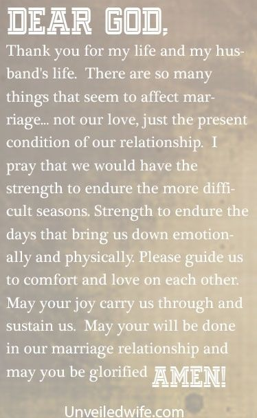 strengthen relationship with wife and prayer