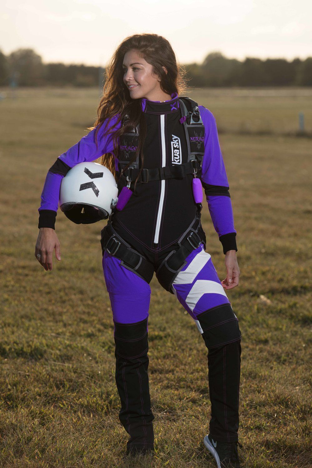 c4dae807b5c Skydiving jumpsuit in Purple. Kua Sky s Freefly Suits have been engineered  for comfort