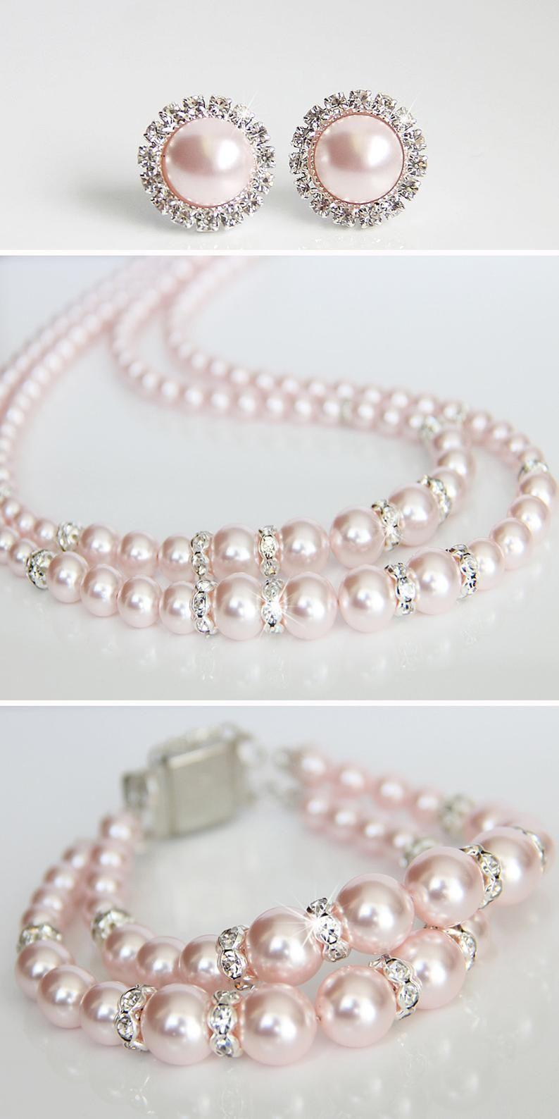 36+ Pink pearl wedding jewelry information