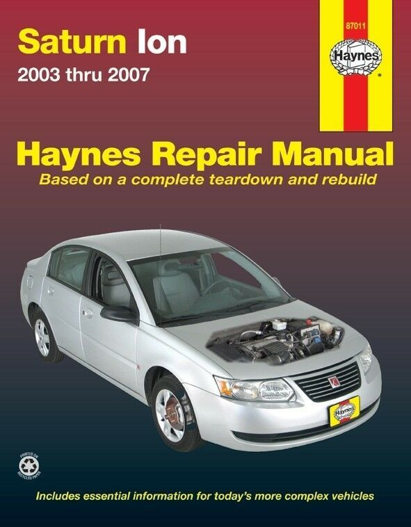 Advertisement Ebay Repair Manual 1 Haynes 87011 Fits 03 04 Saturn