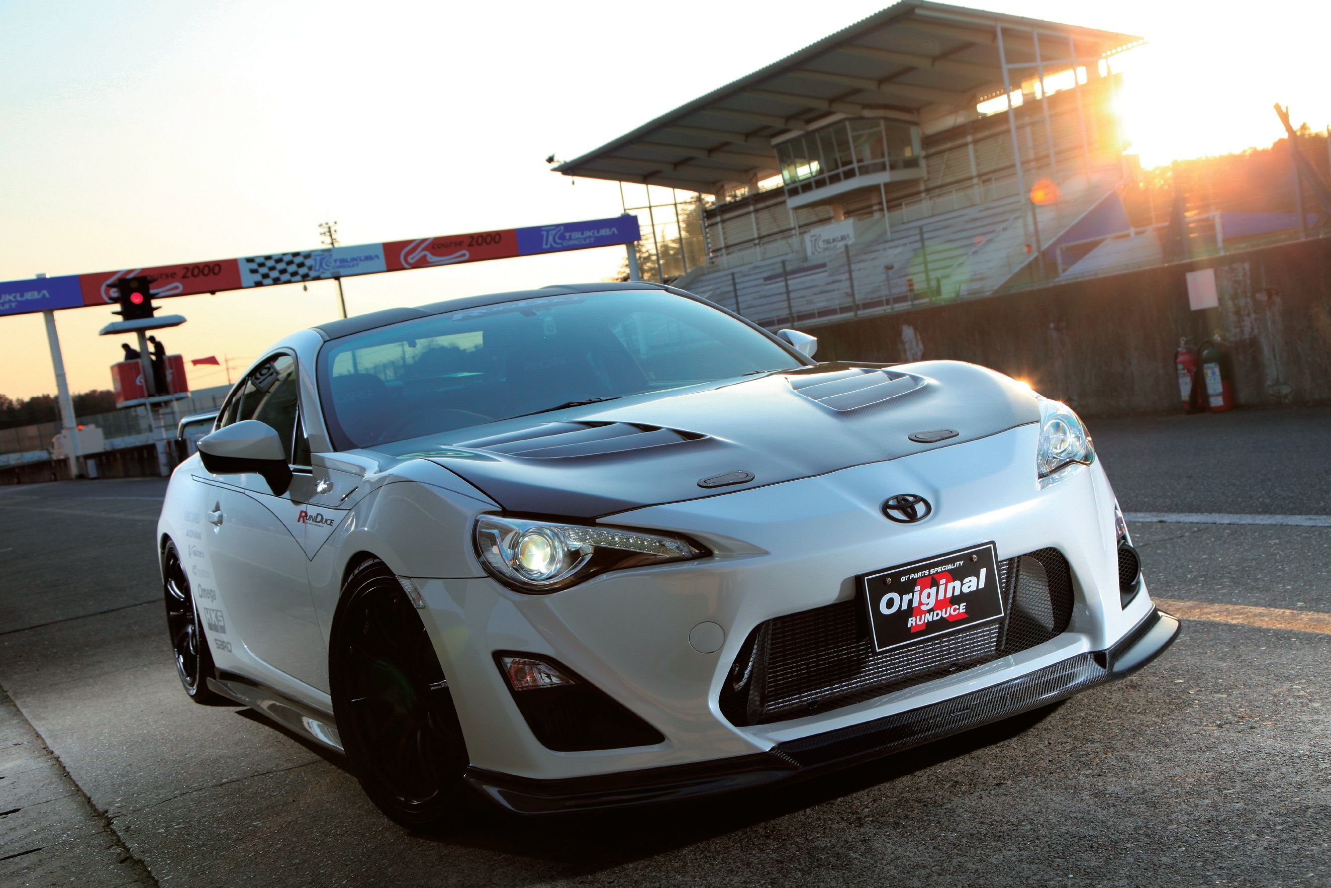 Scion fr s at the track and ready carve the corners