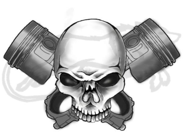 Skull And Crossed Pistons Tattoo Google Search Tattoo Pinterest Piston Tattoo Us Navy Tattoos Skull Art