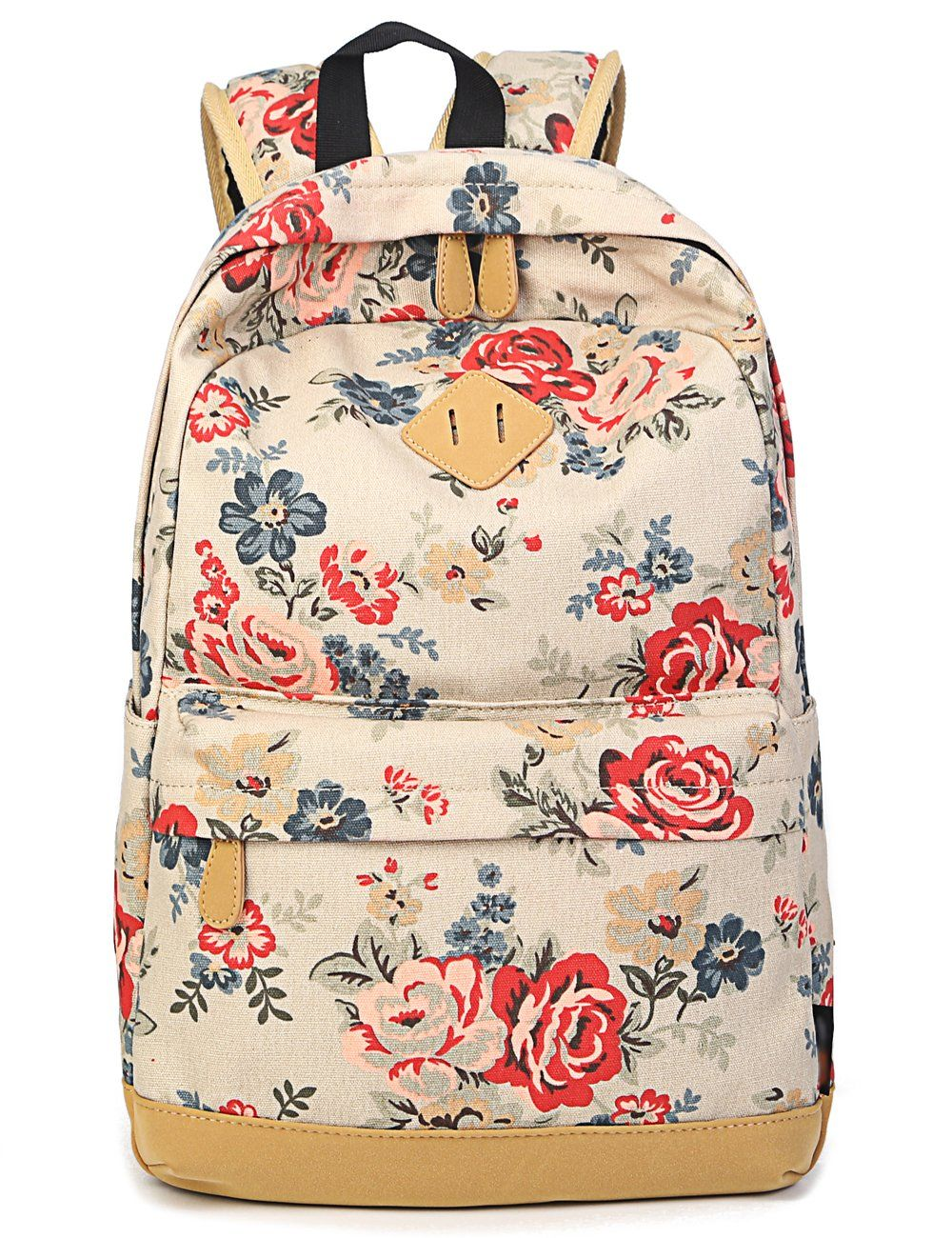 74f072390a2 Leaper Cute Floral Canvas Backpacks Casual Style School Bags Shoulder  Bags Travel Bags Vintage Rose