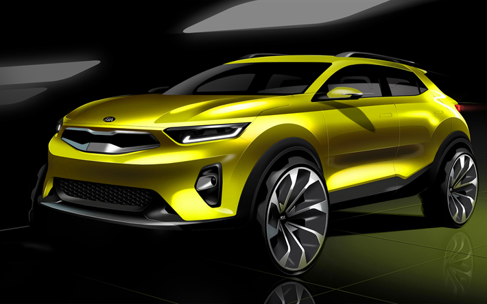 Download wallpapers Kia Stonic, Concepts, new cars