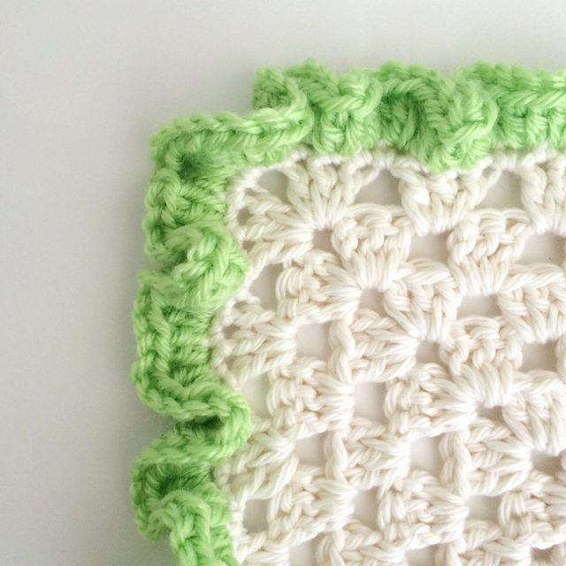 How to Crochet Ruffle Edges | Ganchillo, Tejido y Hilaza