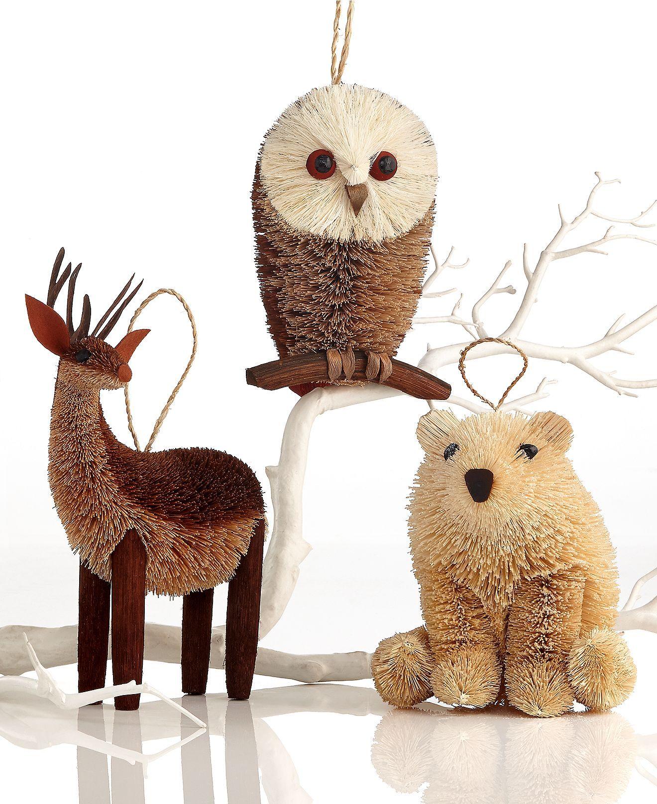 Martha Stewart Christmas Tree Topper: Martha Stewart Collection Christmas Ornament, Large Arctic