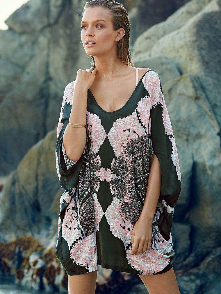 8995903910a27 Embellished Double-V Cover-up - Victoria s Secret