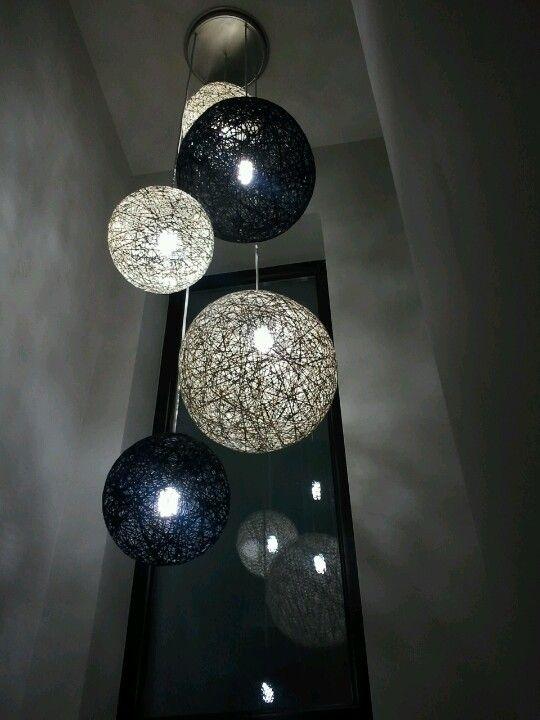 Lamparas de hilo decoracion Pinterest Hilo, Iluminación y Hogar - lamparas para escaleras